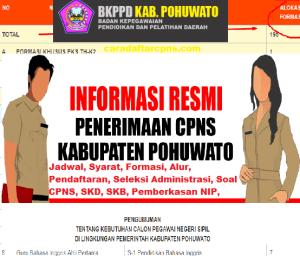 Jadwal SKB CPNS Kabupaten Pohuwato 2019 2020