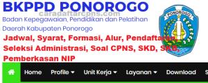 Jadwal Pendaftaran CPNS Kabupaten Ponorogo 2021 Lulusan SMA SMK D3 S1 S2