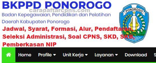 Pengumuman Hasil SKD CPNS KABUPATEN PONOROGO 2021