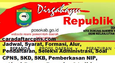 Pengumuman CPNS Kabupaten Poso 2021 Lulusan SMA SMK D3 S1 S2