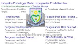 Pengumuman Hasil SKB CPNS Kabupaten Purbalingga Formasi 2019