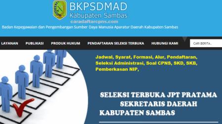 Pengumuman CPNS Kabupaten Sambas 2021 Lulusan SMA SMK D3 S1 S2