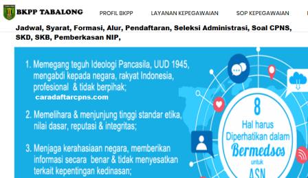 Pengumuman CPNS Kabupaten Tabalong 2021 Lulusan SMA SMK D3 S1 S2