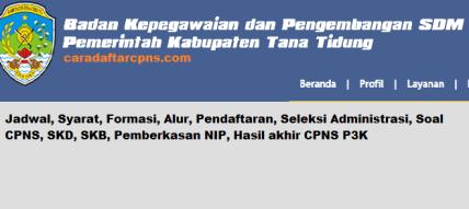 Pengumuman CPNS Kabupaten Tana Tidung 2021 Lulusan SMA SMK D3 S1 S2