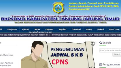 Pengumuman CPNS Kabupaten Tanjabtim 2021 Lulusan SMA SMK D3 S1 S2
