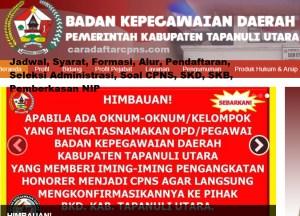 CPNS 2019 Kab Tapanuli