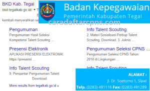 Pengumuman Hasil SKB CPNS Kabupaten Tegal Formasi 2019