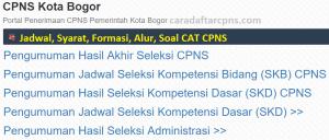 Pengumuman Hasil SKB CPNS Pemkot Bogor Formasi 2019