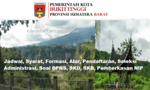 Pengumuman Hasil SKB CPNS Pemkot Bukittinggi Formasi 2019