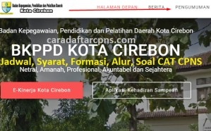 Pengumuman Hasil SKB CPNS Pemkot Cirebon Formasi 2019