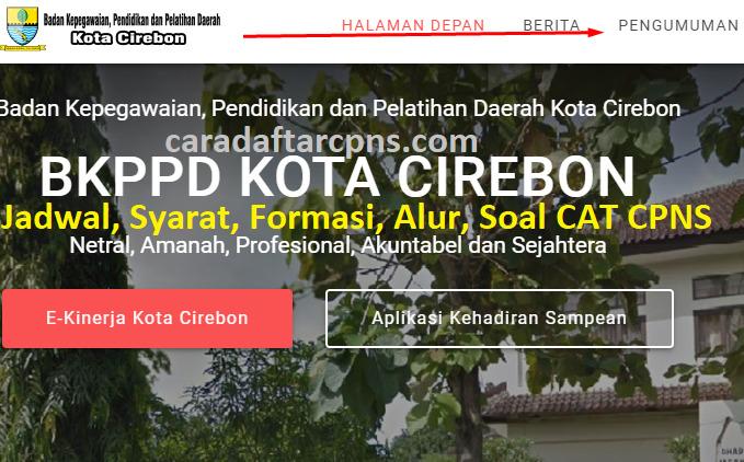 Hasil Seleksi Administrasi CPNS Pemkot Cirebon 2021