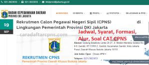 Jadwal Pendaftaran CPNS Pemkot Jakarta 2021 Lulusan SMA SMK D3 S1 S2