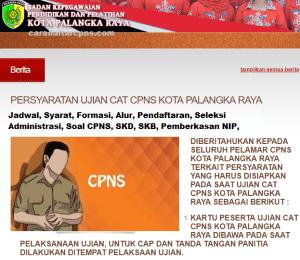 Pengumuman Hasil SKB CPNS Kota Palangka Raya Formasi 2019