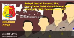 Jadwal Pendaftaran CPNS Kota Solok 2021 Lulusan SMA SMK D3 S1 S2