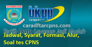 Jadwal Pendaftaran CPNS Pemkot Tangsel 2021 Lulusan SMA SMK D3 S1 S2