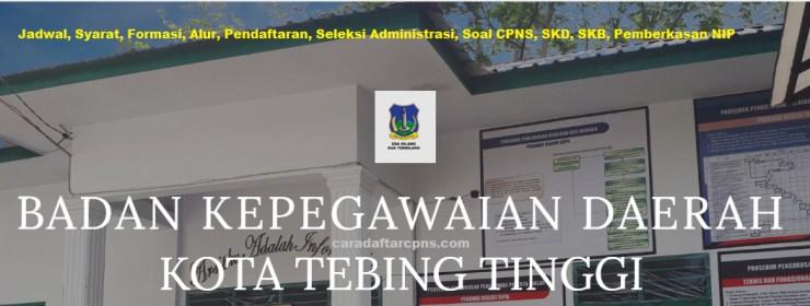 Hasil Seleksi Administrasi CPNS Pemkot Tebing Tinggi 2021
