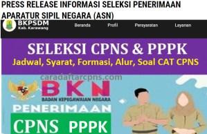 Jadwal Pendaftaran CPNS Kabupaten Karawang 2021 Lulusan SMA SMK D3 S1 S2