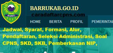 Pengumuman CPNS Kabupaten Barru 2021 Lulusan SMA SMK D3 S1 S2