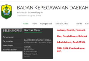 Pengumuman CPNS Kabupaten Buol 2021 Lulusan SMA SMK D3 S1 S2