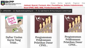 Pengumuman CPNS Kabupaten Lombok Tengah 2021 Lulusan SMA SMK D3 S1 S2