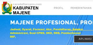 Pengumuman CPNS Kabupaten Majene 2021 Lulusan SMA SMK D3 S1 S2