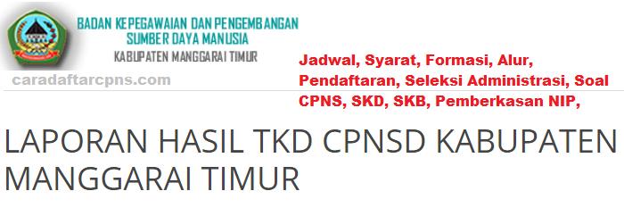 Pendaftaran Cpns Kabupaten Manggarai Timur 2019 Hasil Seleksi Cpns
