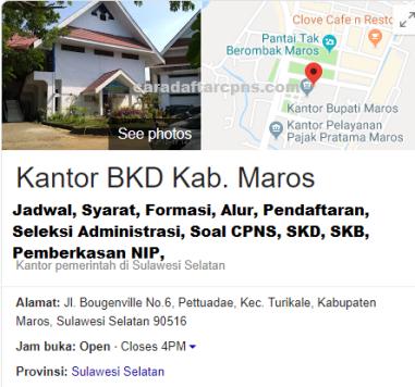 Pengumuman CPNS Kabupaten Maros 2021 Lulusan SMA SMK D3 S1 S2