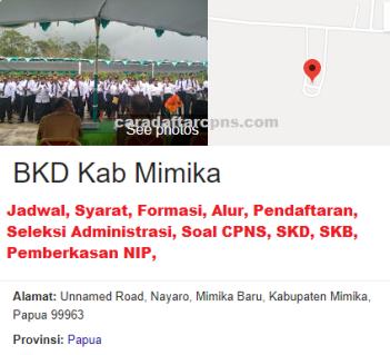 Pengumuman CPNS Kabupaten Mimika 2021 Lulusan SMA SMK D3 S1 S2