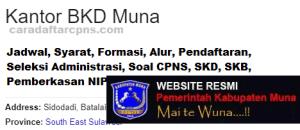 Pengumuman Hasil SKB CPNS Kabupaten Muna Formasi 2019