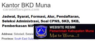 Pengumuman CPNS Kabupaten Muna 2021 Lulusan SMA SMK D3 S1 S2