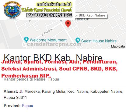 Pengumuman CPNS Kabupaten Nabire 2021 Lulusan SMA SMK D3 S1 S2