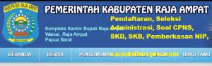 Pendaftaran CPNS Kabupaten Raja Ampat 2019