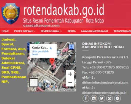Pengumuman CPNS Kabupaten Rote Ndao 2021 Lulusan SMA SMK D3 S1 S2