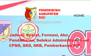 Jadwal SKB CPNS Kabupaten Sigi 2019 2020