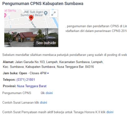Pengumuman CPNS Kabupaten Sumbawa 2021 Lulusan SMA SMK D3 S1 S2