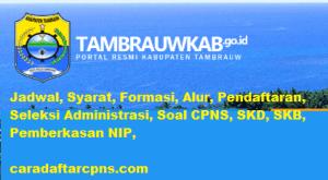 Pendaftaran CPNS Kabupaten Tambrauw 2019