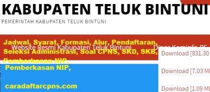 Pengumuman CPNS Kabupaten Bintuni 2021 Lulusan SMA SMK D3 S1 S2