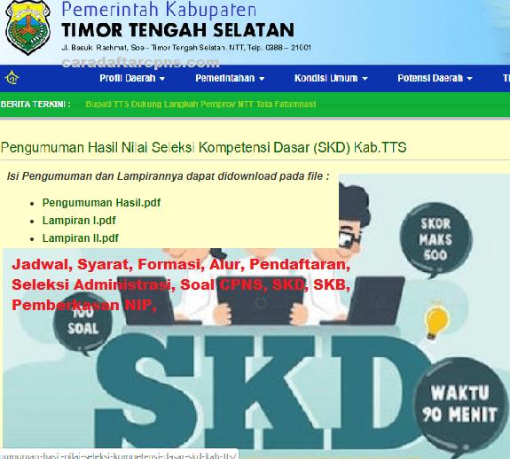 Pengumuman CPNS Kabupaten TTS 2021 Lulusan SMA SMK D3 S1 S2