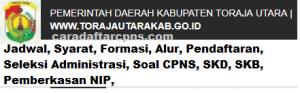 Pengumuman Hasil SKB CPNS Kabupaten Toraja Utara Formasi 2019