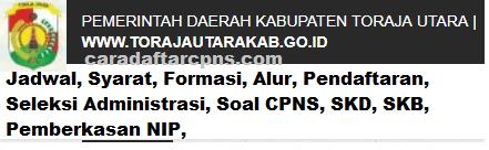 Pengumuman CPNS Kabupaten Toraja Utara 2021 Lulusan SMA SMK D3 S1 S2