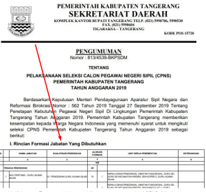 Jadwal SKB CPNS Kota Tangerang 2019 2020