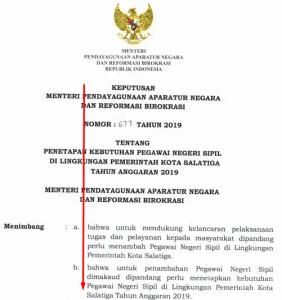 Pengumuman Hasil SKB CPNS Pemkot Salatiga Formasi 2019