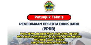 Pengumuman Hasil PPDB SMA SMK Negeri Provinsi Jawa Tengah 2020 2021