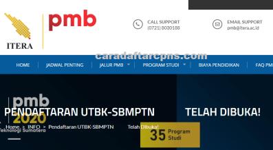 Pengumuman SNMPTN UTBK SBMPTN Itera 2021