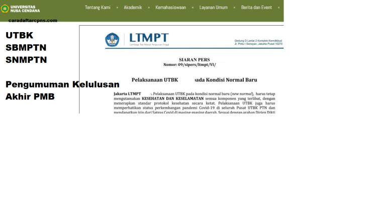 Hasil Akhir Seleksi UTBK SBMPTN universitas cendana undana