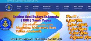 Pengumuman Hasil Seleksi Jalur Mandiri ISBI TANAH PAPUA 2020