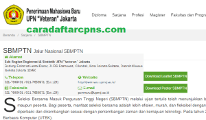 Pengumuman SNMPTN UTBK SBMPTN UPN Jakarta 2021