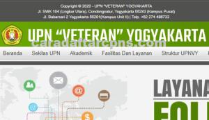 Pengumuman Hasil Seleksi Jalur Mandiri UPN YOGYAKARTA 2020