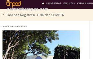 Pengumuman Hasil SBMPTN Universitas PADJADJARAN Unpad 2020 2021