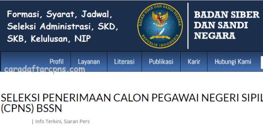 Hasil Seleksi Administrasi CPNS BSSN 2021